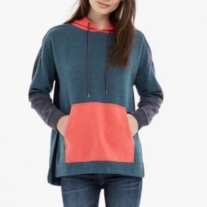 Madewell Color Block Hoodie Oversized Large Top